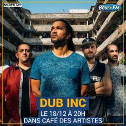 Café des Artistes du 17-12-2020 : Dub Inc
