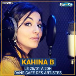 Café des Artistes du 26-01-2021 : Kahina B