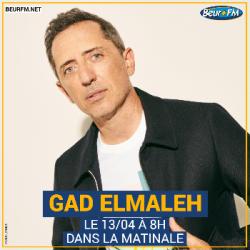 La Matinale du 13-04-2021 : Interview de Gad Elmaleh
